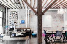 Brick walls + Loft Living| New York | Kid & Coe