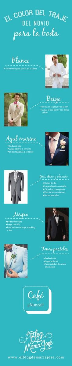 El color del traje de novio para la boda #Bodas #ElBlogdeMaríaJosé #TrajeNovio #LookNovio