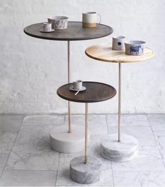 Easy home decor - Coffee table - Decor - Small end tables - Concrete furniture - Furniture sid Concrete Furniture, Table Furniture, Furniture Design, Painted Furniture, Modern Furniture, Coaster Furniture, Small Furniture, Plywood Furniture, Chair Design