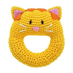 Amazon.com : Dandelion Hand Crocheted Ring Rattle, Dog : Baby Rattles : Toys & Games $12.99 & FREE Shipping