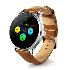 Sinma 12 inch Bluetooth Waterproof Smart Watch Coffee Leather 240 x 240 Pixels Pedometer Heart Rate Detection Wristwatch for AndroidIOS -- You can find more details by visiting the image link. (Note:Amazon affiliate link) #WomenLuxuryWatches