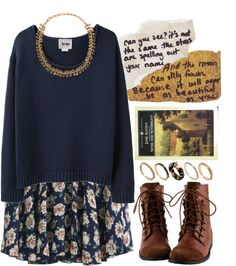 sweater over a dress (winterize summer clothes)