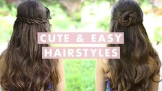 Simple Hairstyle For Girls Simple amp Easy Diy Hairstyles: Simple Hairstyle For Girls Simple Amp Easy Diy Hairstyles. Simple Hairstyle For Girls Simple Amp Easy Diy Hairstyles. Cute Everyday Hairstyles, Cute Prom Hairstyles, Cute Hairstyles For School, Cute Simple Hairstyles, Easy Hairstyles For Long Hair, Girl Hairstyles, Layered Hairstyles, Protective Hairstyles, Thick Hair Styles Medium