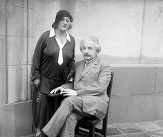 Albert Einstein and his wife, Elsa, 1931