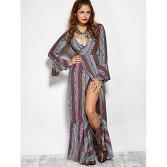 20.79$  Buy now - http://dik71.justgood.pw/go.php?t=200066103 - Printed Maxi Bohemian Dress 20.79$