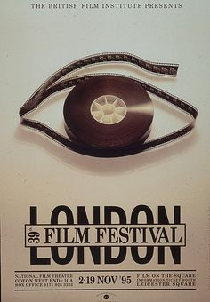 film festival poster design Photograph-London Film Festival Poster - Photo Print made in the USA Poster Ads, Typography Poster, Typography Design, Design Logos, Advertising Poster, Design Design, Graphic Design Posters, Graphic Design Inspiration, Type Posters