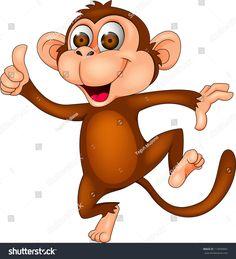 Monkey cartoon dancing