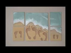 Tried it Tuesday, Ep. 2: Beach Footprint Painting - YouTube