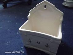 Régi Zsolnay porcelán fali sótartó