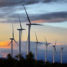 A wind turbine is a device that converts kinetic energy from the wind into electricity. Its blades turn between 13 and 20 revolutions per minute. Un aerogenerador es un dispositivo que convierte la energía cinética del viento en energía eléctrica. Sus palas giran entre 13 y 20 revoluciones por minuto.