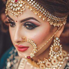 Indian bride makeup by uv ghai (c) kulwant singh mararr indian bridal jewel Bridal Makeup Images, Best Bridal Makeup, Bridal Makeup Looks, Bride Makeup, Bridal Looks, Bridal Beauty, Indian Bridal Photos, Indian Bridal Wear, Bridal Pics