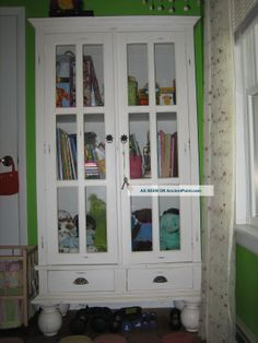 shabby_chic_bookcase_cupboard_storage_cabinet_shelf_unit_3_sides_of_glass_unique_1_lgw.jpg 1,200×1,600 pixels