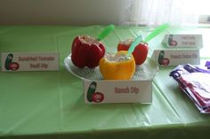 Creative and fun food, games, and decor ideas for a Veggie Tales Birthday Party!