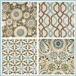 Waverly Gemma Latte Collection - roman shades and throw pillows
