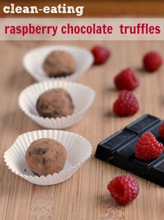 You have to try this healthy raspberry chocolate truffle recipe! It's a delicious Christmas gift or holiday treat. Recipe from Real Food Real Deals
