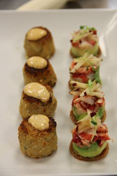 Both - Crab Cake and Lobster Tasters - yummmm
