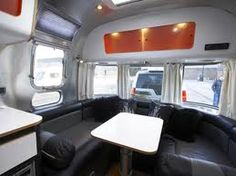 modern caravan grey coverd
