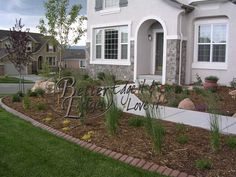Brick landscape edging in Colorado Springs, Colorado
