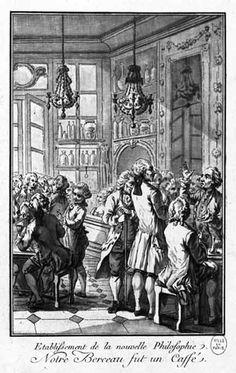 Café Procope deviendra vite un café philosophique. C'est la genèse du siècle des Lumières dans lequel ont retrouvera à la fois l'émergence des Encyclopédistes, le triomphe de l'esprit philosophique et l'émergence de la Raison sur la Foi.