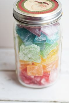 Rock candy has always been a tradition at Christmas time for my family. It started when my brother and I were little children. My mom always made this hard candy for us. It's funny now that I think about it  because the flavors aren't ones that I would associate with children. I think ...