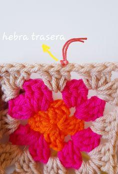 CÓMO UNIR CUADRADOS DE CROCHET CON PUNTO DESLIZADO – CHINITA Lana, Crochet Patterns, Crochet Square Patterns, Strands, Crochet Blankets, Dots, Tejidos, Embroidery, Manualidades