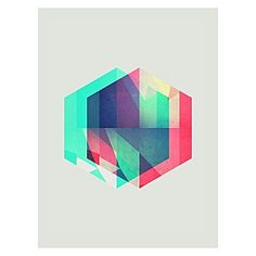 Balance minimalism with geometric design in your space with the colourful Hexygen Print Art from Americanflat.