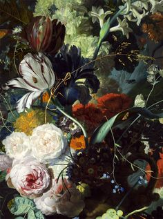 Jan van Huysum - Still Life with Flowers and Fruit (1715)