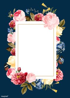 Blank floral frame card vector | premium image by rawpixel.com / Niwat Butterfly Background, Flower Background Wallpaper, Flower Backgrounds, Blank Background, Framed Wallpaper, Wedding Invitation Card Design, Floral Invitation, Blank Wedding Invitations, Party Invitations