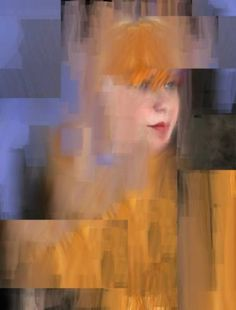 "Saatchi Art Artist Lauro Winck; Photography, ""Portrait of woman in orange and blue"" #art"