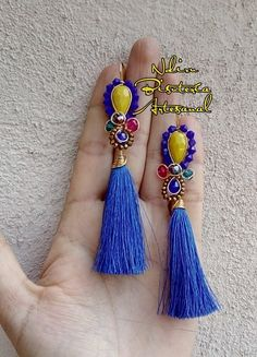 Wire Rings, Wire Jewelry, Handmade Jewelry, Jewelery, African Necklace, Soutache Earrings, Polymers, Tassel Necklace, Tassels