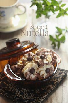 masam manis: Semperit Nutella Mint Cookies, Galletas Cookies, Yummy Cookies, Cake Cookies, Biscuit Cookies, Biscuit Recipe, Cookie Desserts, Cookie Recipes, Resepi Cookies