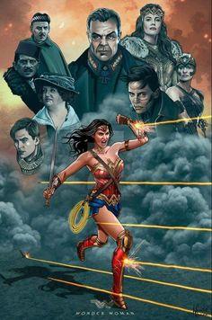 Wonder Woman Justice League by hamletroman on DeviantArt Dr Fate, Hq Dc, Gal Gadot Wonder Woman, Women Poster, Female Superhero, Dc Characters, Wonder Women, Marvel Dc Comics, Marvel Vs