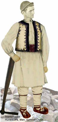 Hunedoara Man Folk Embroidery, Folk Costume, Folklore, Samurai, Europe, Samurai Warrior