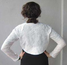 Lace shrug / cotton shrug / lycra shrug / wedding by Oldiescraft