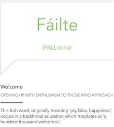The most beautiful words in the Irish language.//Tá failte romhat- there is a welcome before you Irish Quotes, Irish Sayings, Irish Pride, Celtic Pride, Irish Customs, Gaelic Words, American Quotes, American Symbols, Travel