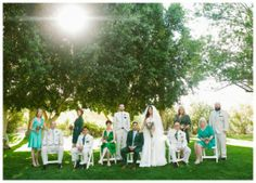 green-wedding-party