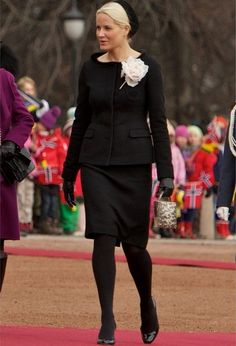 Mette Marit The official welcoming ceremony for Lithuania's president Dalia Grybauskaite at the Royal Palace
