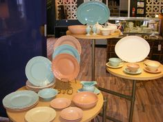Happy Easter~! Retro is open today from 11-4pm~! Check out these fabulous Franciscan Coronado Dinnerware Sets~ ! The perfect colors for your Easter Dinner~! @ Retro Kalamazoo