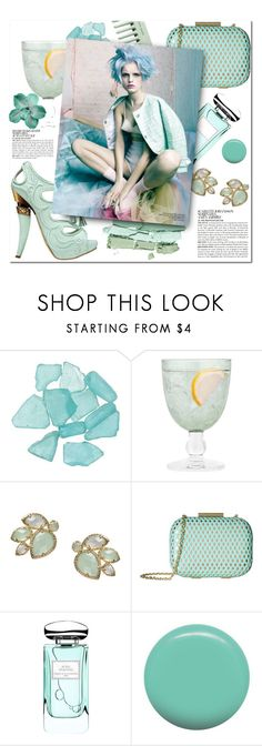 """Fresh Mint"" by iireneii ❤ liked on Polyvore featuring Christian Dior, McGinn, Kendra Scott, Jessica McClintock, By Terry, Jin Soon, mint and fresh"