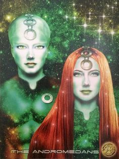 Andromedans | These beings assist the galaxy with telepathy and dream communication. They promote peace and use telepathy to help humanity evolve and grow.