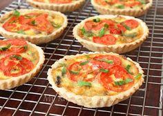 Mushroom, Tomato and Camembert Tarts
