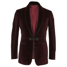 Burgundy Smoking Jacket