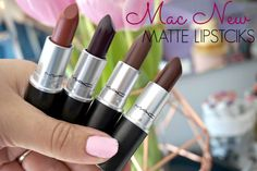 Mac New Matte Lipsticks review swatches and dupes