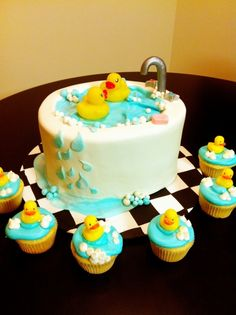 Rubber Duckies Cake And Cupcakes