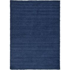 Basic Navy Blue Area Rug by Unique Loom 4x6 at Wayfair for $84.84