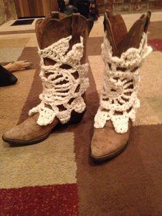 Crochet boot covers
