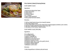Olive Garden's Salad & Dressing Recipe