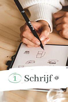 Met Bambook schrijf je zoals je gewend bent, alleen kan je het schrift leeg wissen als die vol zit. Zo schrijf jij mee aan een betere planeet! ✍️ Schrijf op de uitwisbare pagina's 📲 Scan de aantekeningen die je wil bewaren 💦 Spray met water en wis je pagina's ♻️ En je Bambook is klaar om hergebruikt te worden. Ontdek nu jouw laatste uitwisbare notitieboek! Whiteboard, Ads, Silver, Accessories, Writing Fonts, Erase Board, Money, Jewelry Accessories