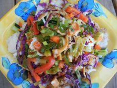 Thai Peanut Chicken Salad--Fresh, healthy, sweet & satisfying.