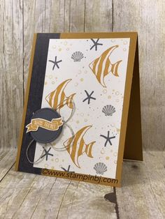 Struggle with Masculine cards?  Check out the Nailed It Masculine card class - this is one of the alternate projects!  #stampinbj.com